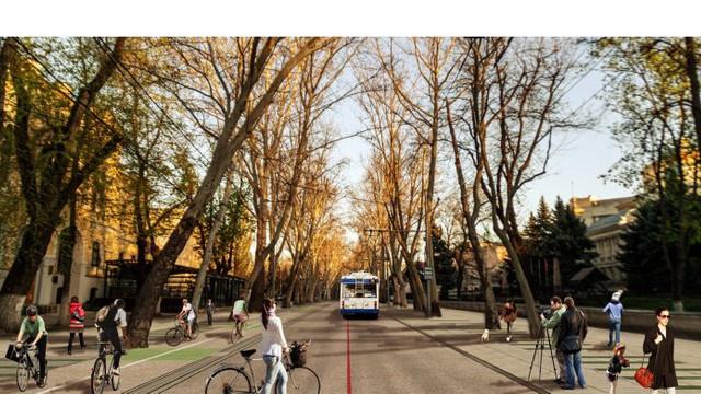 Pe strada 31 august din capitală va fi înlocuit iluminatul public și vor fi construite piste pentru cicliști