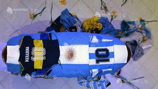 Diego Maradona a fost înmormântat la Buenos Aires, în cadrul unei ceremonii private