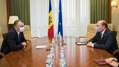 Ion Chicu a avut o întrevedere cu ambasadorul Federației Ruse la Chișinău, Oleg Vasnețov