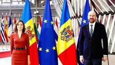Prima zi a vizitei oficiale efectuată de Maia Sandu la Bruxelles s-a încheiat cu întrevederea cu președintele Consiliului European, Charles Michel