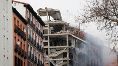 O puternică explozie a provocat prăbușirea parțială a unei clădiri din centrul Madridului