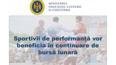 Autoritățile vor acorda și în 2021 bursă de merit sportivilor de performanță