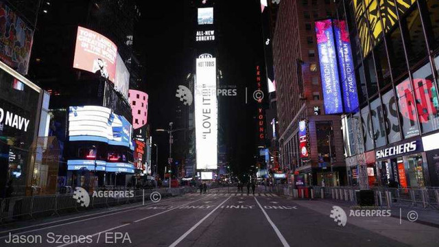 VIDEO Anul Nou, marcat la New York într-o piață Times Square aproape pustie