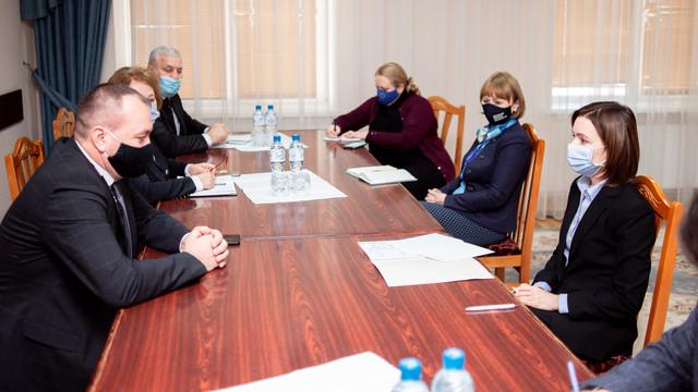Președintele Maia Sandu a mers într-o vizită de lucru în raionul Hâncești