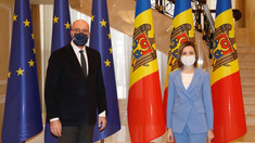 LIVE | Conferință de presă susținută de Președinta R.Moldova, Maia Sandu, și Președintele Consiliului European, Charles Michel