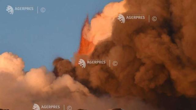 Aeroportul din Catania s-a redeschis după sistarea temporară a activității în urma erupției vulcanului Etna