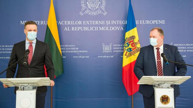 Ministrul interimar de externe după întrevederea cu omologul lituanian: Relațiile moldo-lituaniene sunt cu adevărat excelente și vor continua să se dezvolte în același ritm și spirit tradițional de prietenie
