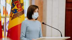 """Maia Sandu, mesaj la un an de COVID în R. Moldova: """"În lupta cu pandemia, singurul nostru dușman, al tuturor, este virusul. Vom reuși să oprim pandemia doar dacă suntem împreună"""""""