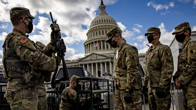 De teama terorismului intern, Pentagonul a anunțat că soldații Gărzii Naționale mai rămân încă două luni să protejeze Capitoliul