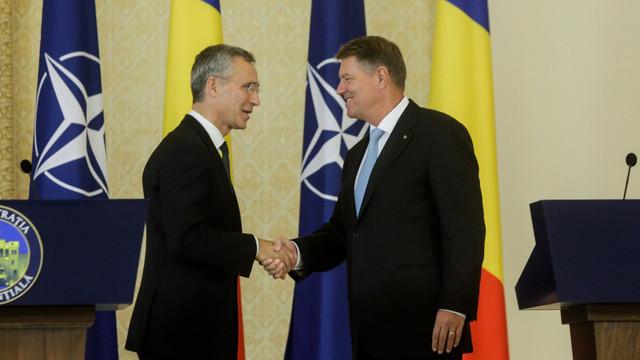 Președintele României Klaus Iohannis, convorbire cu secretarul general al NATO. Jens Stoltenberg: România este un aliat responsabil și valoros