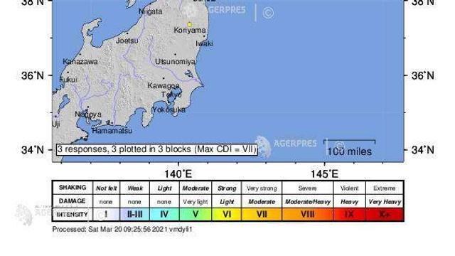 Seism cu magnitudinea 7,2 în nord-estul Japoniei; alertă de tsunami