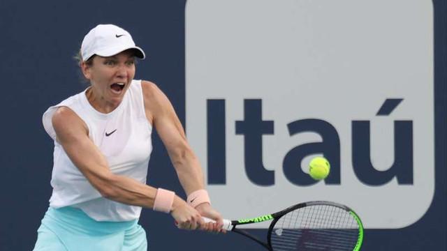 Tenis: Simona Halep s-a retras de la Miami Open din cauza unei accidentări