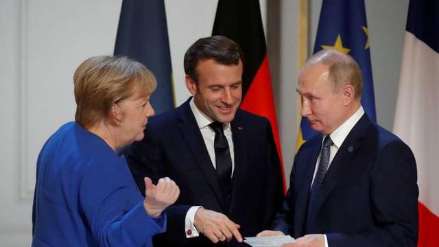 Putin, Merkel și Macron au discutat despre vaccinuri, Navalnîi și Libia