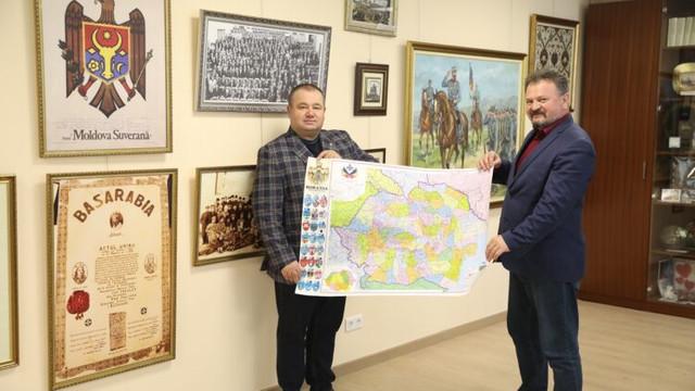Harta României Mari, donată Muzeului Legislativului de către un deputat