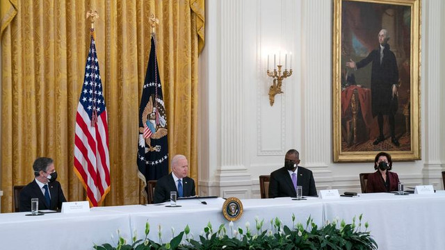 Joe Biden, despre prima întrunire a cabinetului său: Așa arată America!