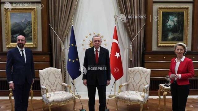 Ursula von der Leyen, lăsată fără scaun la întâlnirea sa și a lui Charles Michel de la Ankara cu Erdogan (presă)