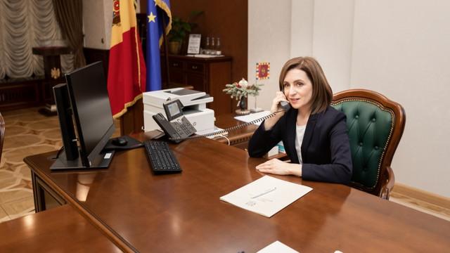 Maia Sandu a avut o convorbire telefonică cu președintele Lituaniei, Gitanas Nausėda