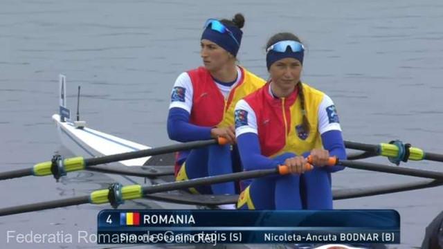 Canotaj | Sportivele române Nicoleta-Ancuța Bodnar și Simona Geanina Radiș au cucerit aurul la Europene în proba de dublu vâsle