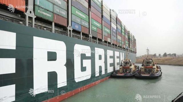 Egiptul a sechestrat nava ''Ever Given'', în așteptarea plății unor despăgubiri de 900 de milioane de dolari