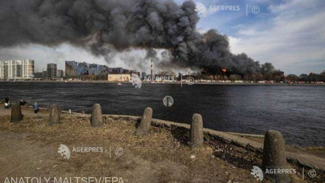 Rusia | Două arestări pentru incendiul de amploare din Sankt Petersburg, soldat cu un mort și trei răniți