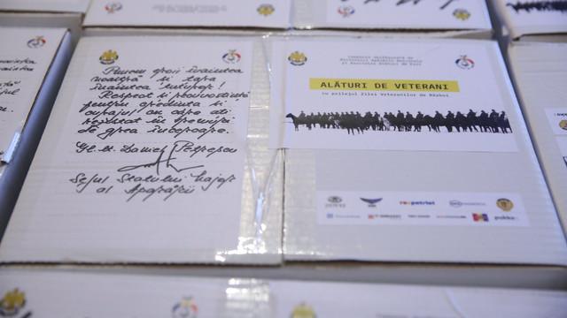 Veteranii de război din România și R. Moldova, cadouri de sărbători de la București