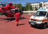 Un echipajul SMURD Iași a efectuat o misiune de transportare aeriană de la Edineț la Chișinău a unui bărbat care a fost implicat într-un accident de circulație