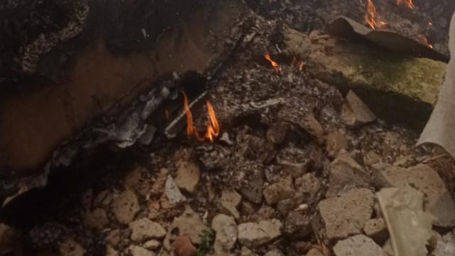 Incendiu pe teritoriul Pieței din Comrat, în ziua de Paște