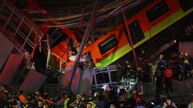 Cel puțin 13 morți și 70 de răniți după ce un pasaj de la metroul din Mexico City s-a prăbușit sub greutatea vagoanelor de tren