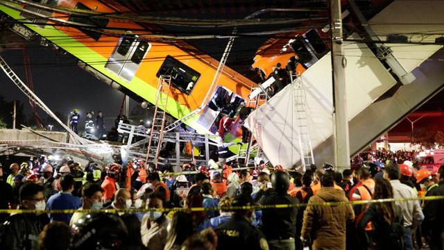 În Mexic, bilanțul morților după prăbușirea pasajului de cale ferată a crescut la 23