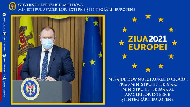 Mesajul premierului interimar de Ziua Europei:  Republica Moldova își regăsește locul în Europa prin cultură, gradul de civilizație, dar și istoria sa