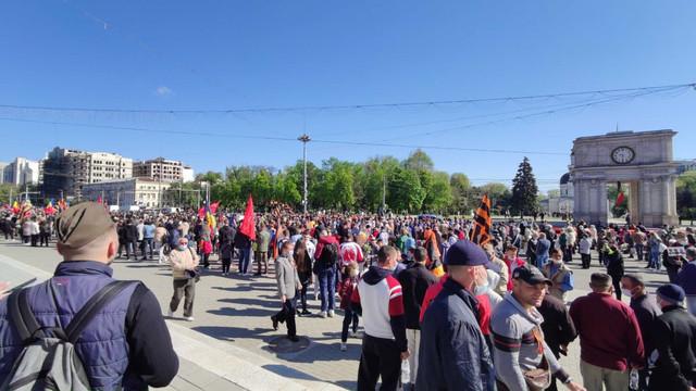 """PSRM a organizat astăzi în Chișinău marșul """"Regimentul nemuritor"""""""