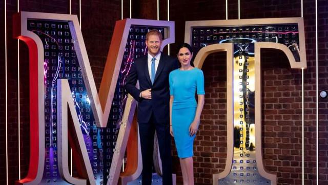 Figurile de ceară ale lui Harry și Meghan de la Madame Tussauds, separate de cele ale familiei regale