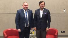 Aureliu Ciocoi, a avut o întrevedere cu omologul său ucrainean, Dmytro Kuleba