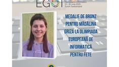 O elevă din Chișinău a luat medalia de bronz la Olimpiada Europeană de Informatică
