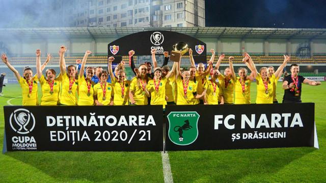 Narta a câștigat Cupa Moldovei la fotbal feminin