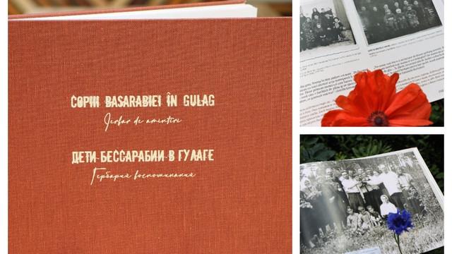 """Astăzi la Biblioteca Municipală """"B.P. Hasdeu"""" din capitală a fost lansată Cartea-album """"Copiii Basarabiei în GULAG. Ierbar de Amintiri"""""""
