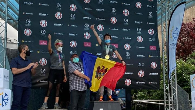 Moldoveanca Elena Iabanji - aur la Spartan Race Andorra