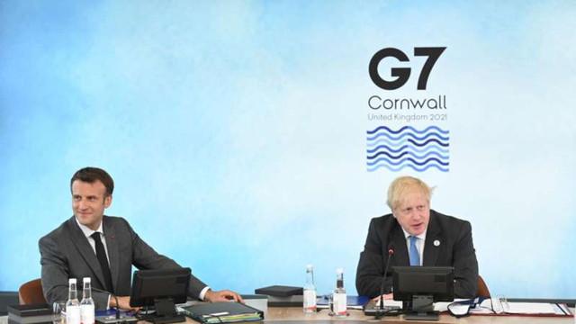 Macron și Johnson au avut o dispută la G7 pe marginea geografiei post-Brexit a Regatului Unit