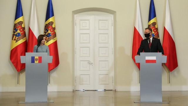 Președintele polonez, Andrzej Duda, după întrevederea cu Maia Sandu: Ținem pumnii ca aceste alegeri care se apropie să aibă ca rezultat alegerea majorității parlamentare care va permite stabilizarea țării pe viitor