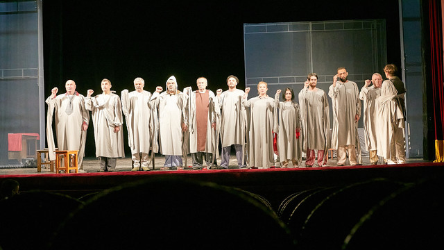 """La Teatrul Național """"Mihai Eminescu"""" a avut loc o demonstrație a unei spectacol de Matei Vișniec pentru stagiunea din toamnă"""