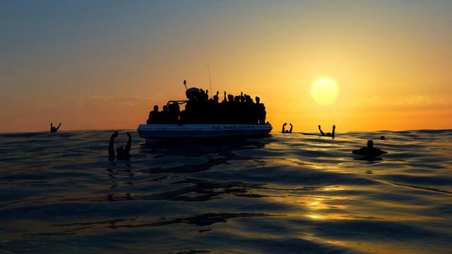 Cel puțin 43 de migranți care doreau să ajungă în Europa s-au înecat după naufragiul unui vas în largul Tunisiei