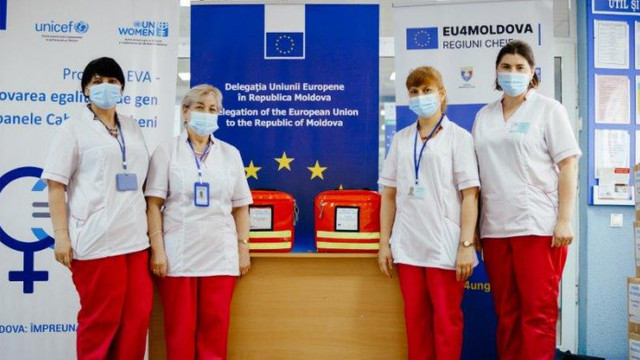 Asistenți medicali din Ungheni și Cahul au primit ajutoare din partea UE