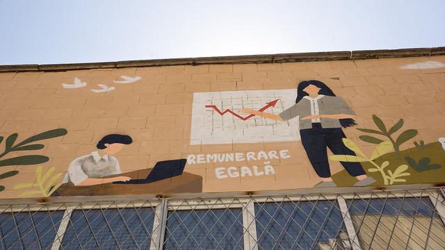 La Chișinău a fost inaugurat un mural dedicat egalității de gen