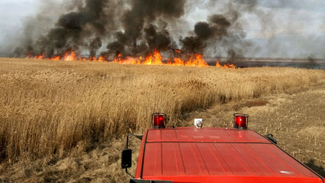 Pompierii atenționează asupra pericolului incendiilor de vegetație