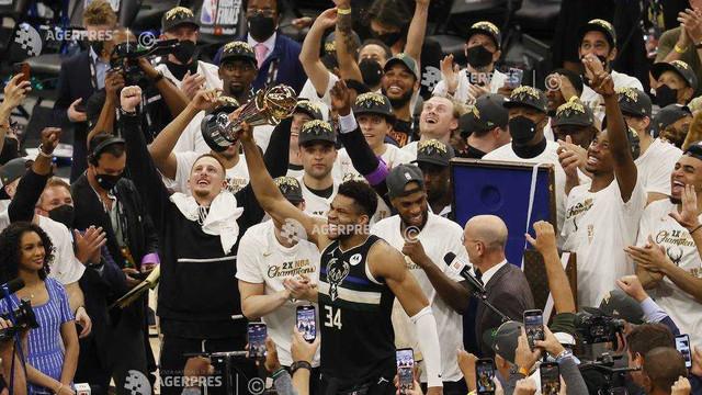 Baschet   Milwaukee Bucks a câștigat al doilea titlu NBA din istoria sa