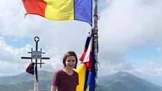 Maia Sandu pe una dintre cele mai înalte culmi ale României, vârful Modoveanu