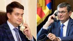 Igor Grosu a discutat cu președintele Radei Supreme a Ucrainei