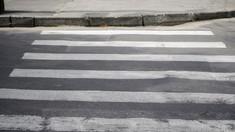 A început aplicarea marcajului rutier în preajma școlilor din capitală