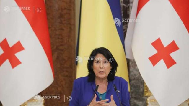Președinta Georgiei a cerut Rusiei să-și revoce decizia privind recunoașterea independenței regiunilor separatiste georgiene