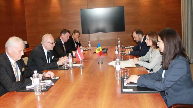 Președintele Maia Sandu a avut o întrevedere cu omologul său leton, Egils Levits